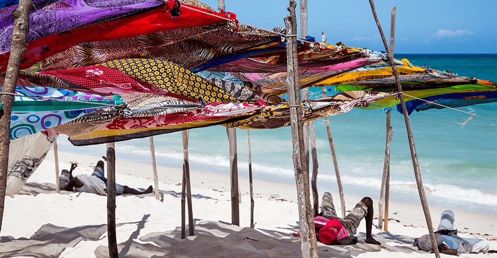 Strand i Kenya