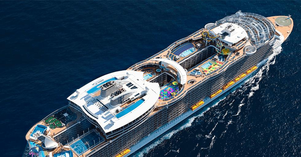 Cruise skip sett fra lufta