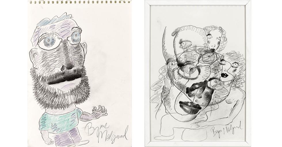 Originale Bjarne Melgaard tegninger
