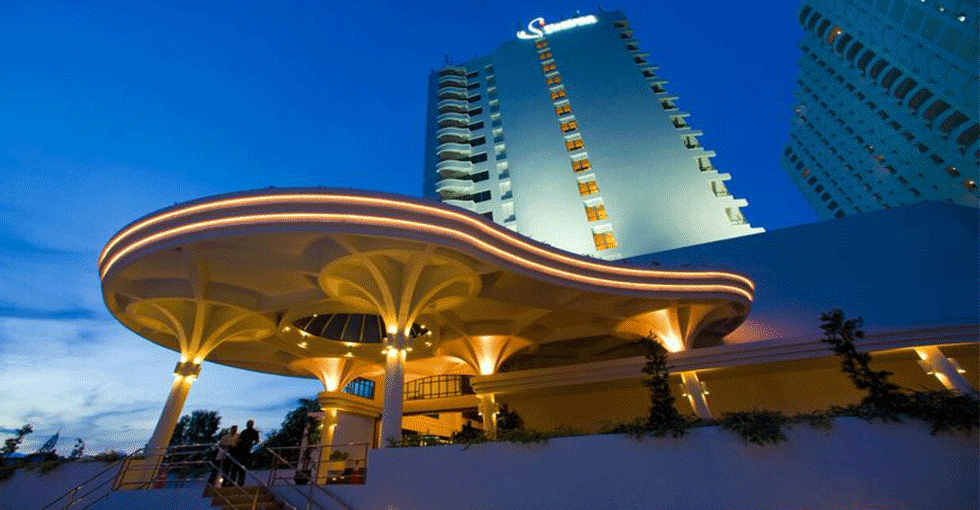 inngangspartiet/fasaden av hotellet