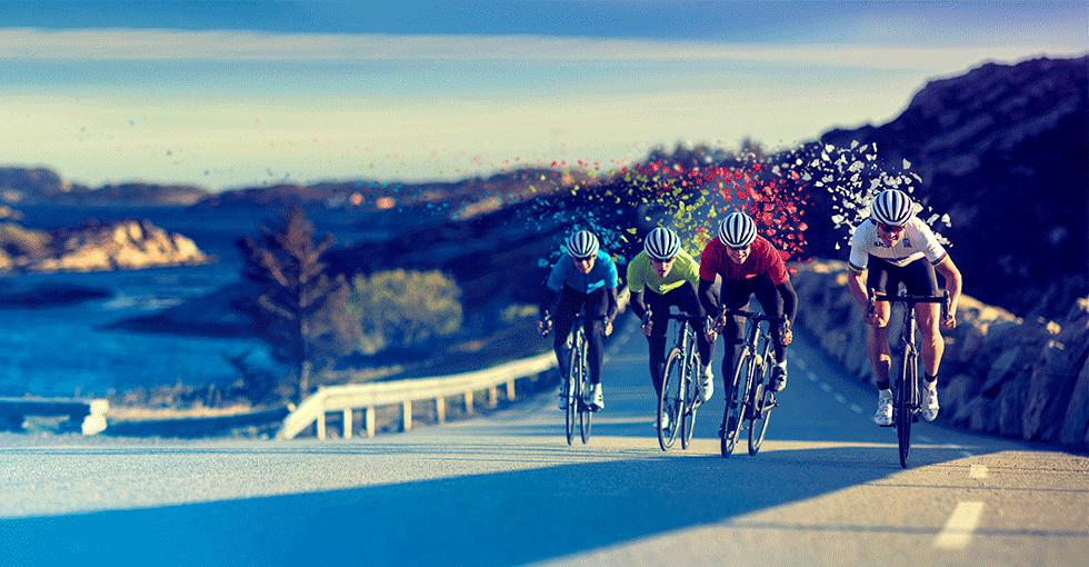 Proffsyklister på landeveien