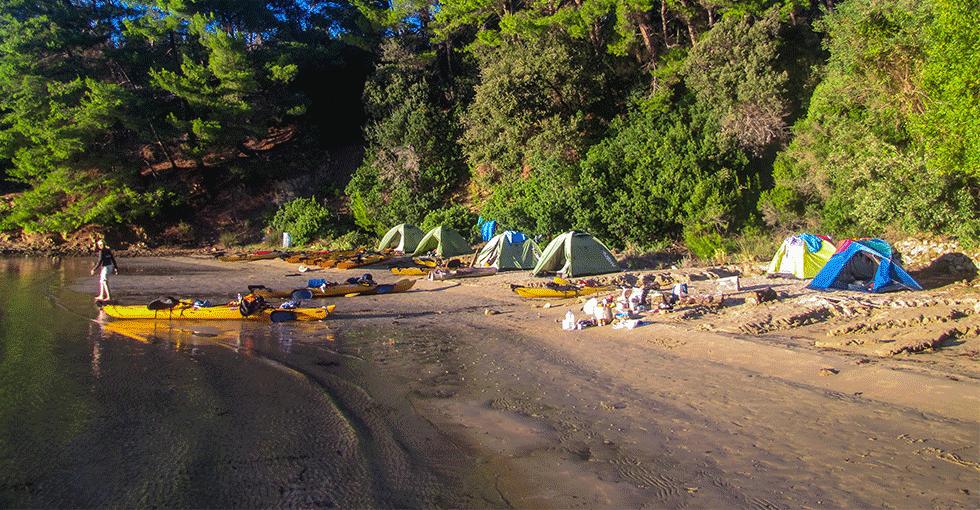 camp i strandsonen