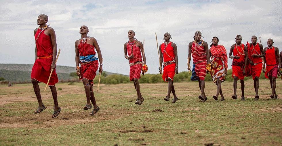 innfødte på vandring