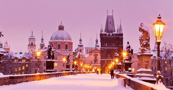 Vinter i Praha