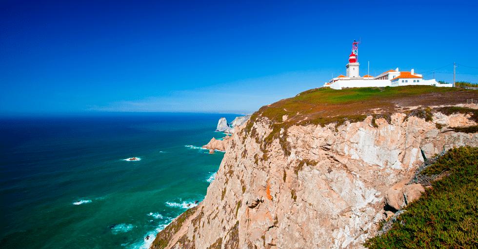 utsikt mot havet i Portugal