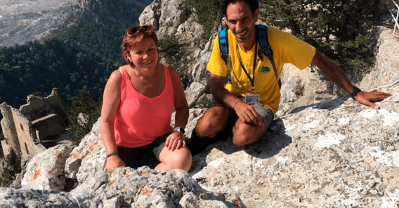 Reiseleder Mette med guide