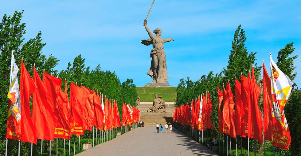 røde flagg i Russland