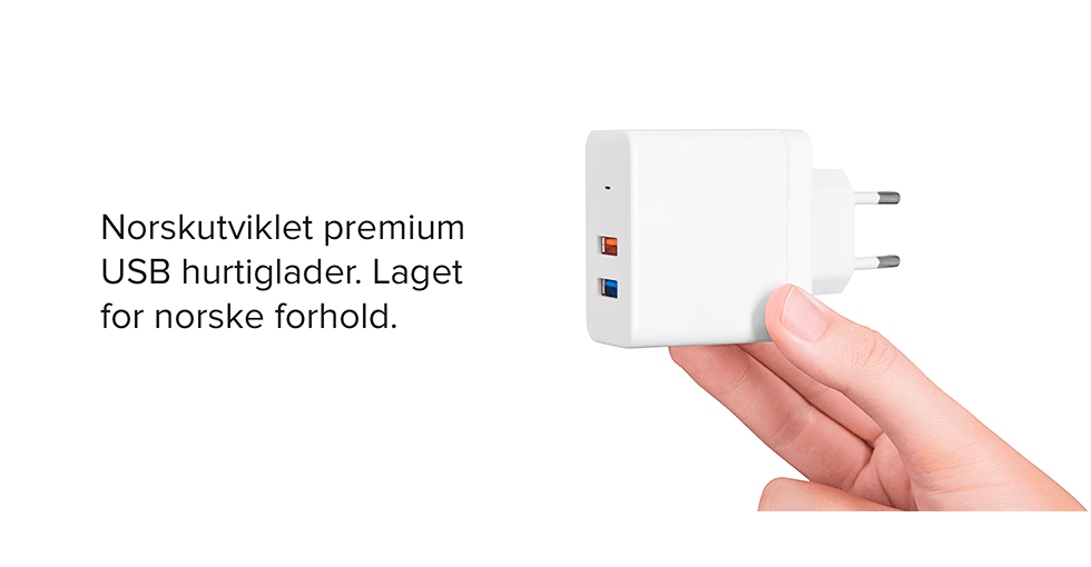 lader med to usb-porter