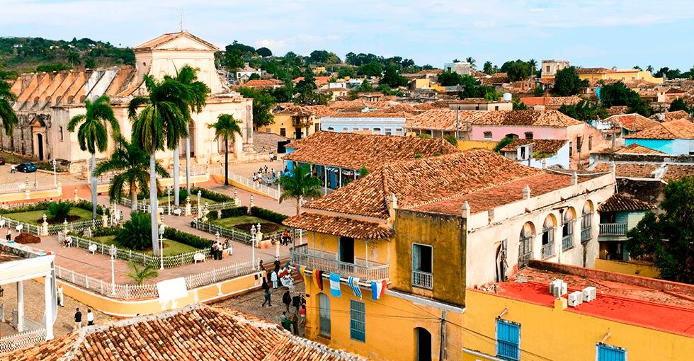 Utsikt over byen