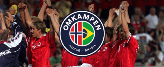 fotballspillere i kampen Norge Brasil i 1989