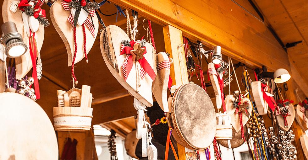 juleprodukter i en julebod