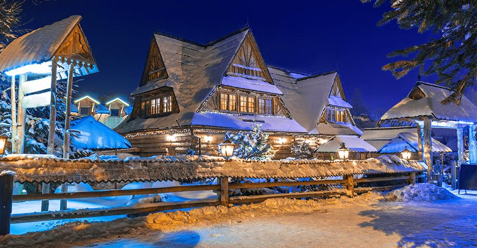 Flott hotell i skifer g gammeldags stil