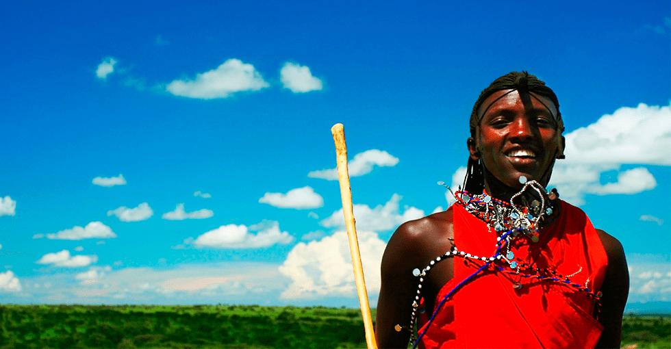 festkledd afrikaner