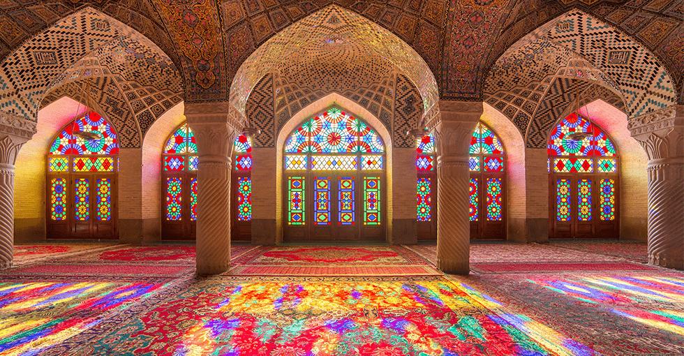 Iranske utsmykket hus fra innsiden