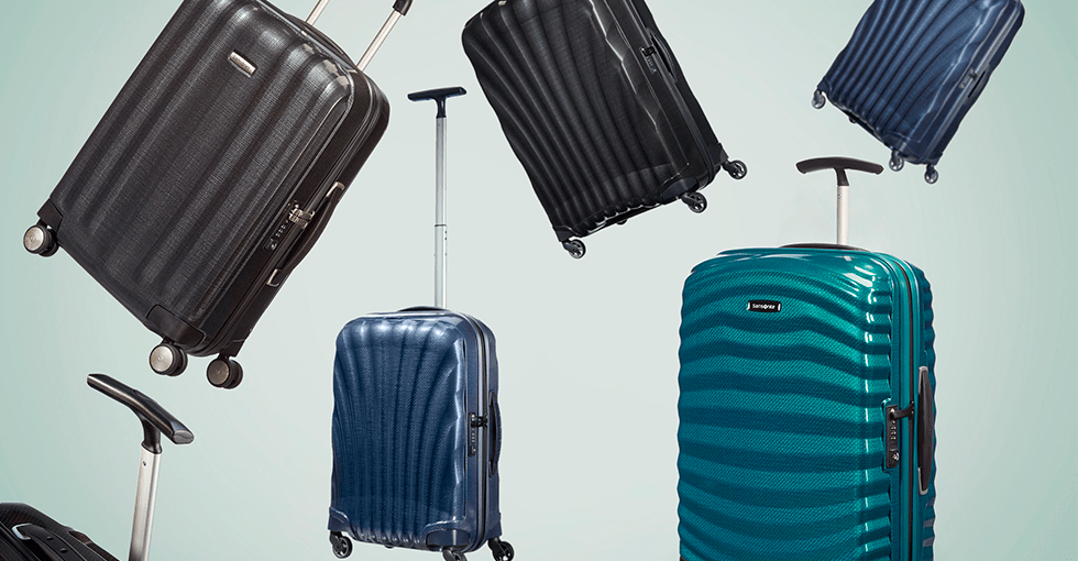 Samsonite kofferter i ulike farger og størrelser