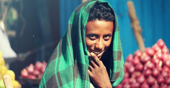 En ung etiopisk mann