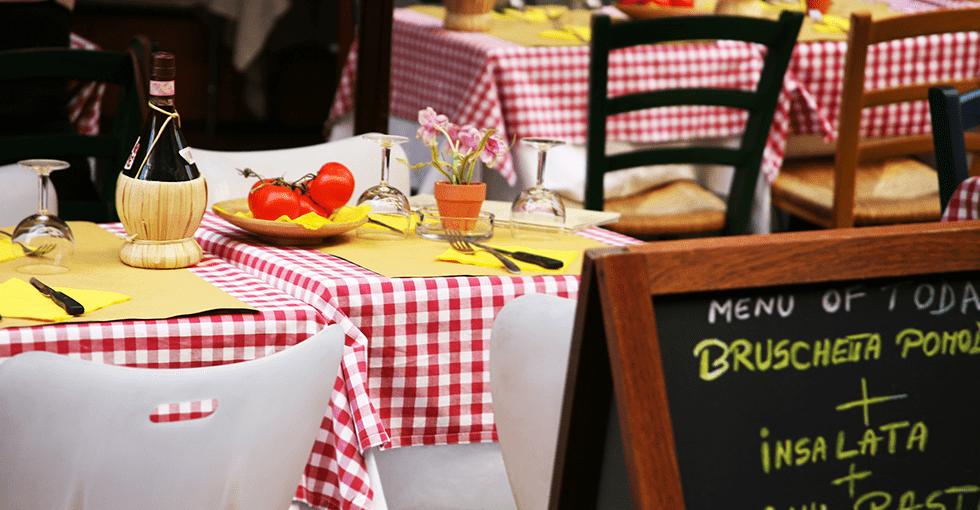 Italiensk dekket bord