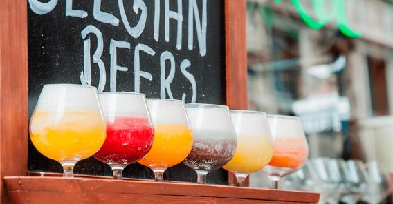 diverse ølsorter i glass