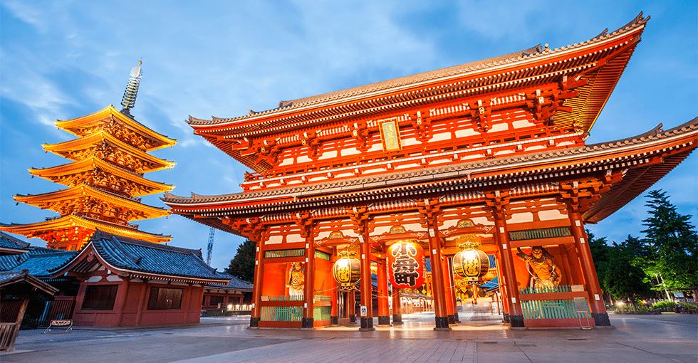 typisk japansk bygning/arkitektur