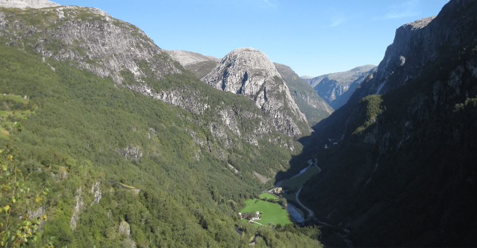 En dal i nærheten av Voss