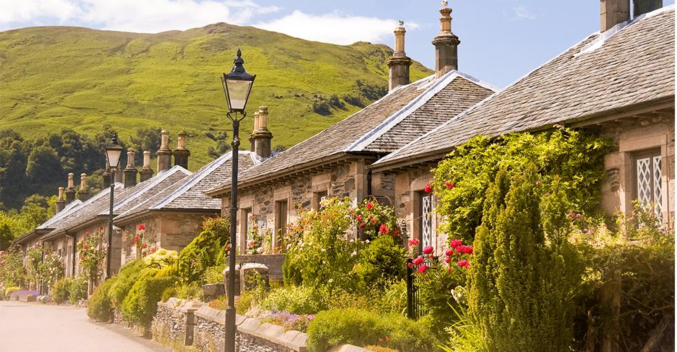 landsby hus bygget i tegl