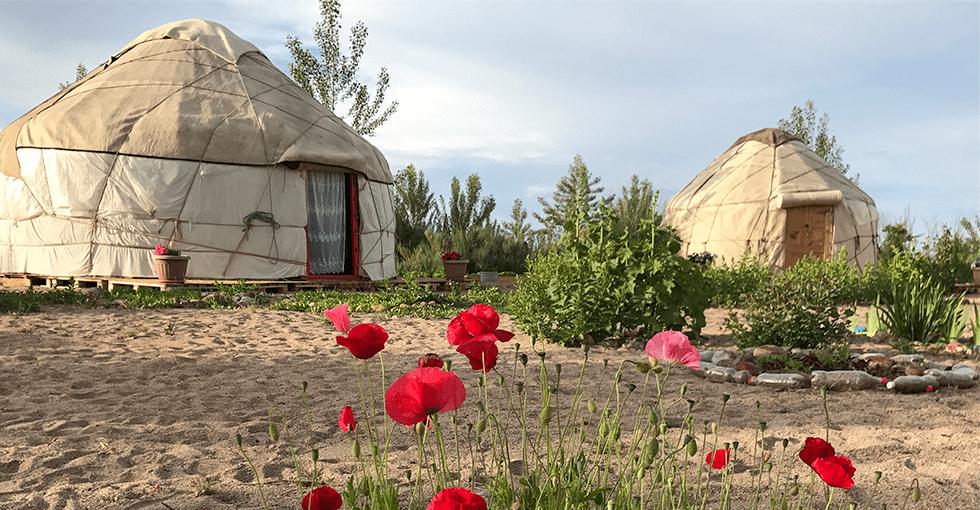 Hytter / telt innbyggerne bor i
