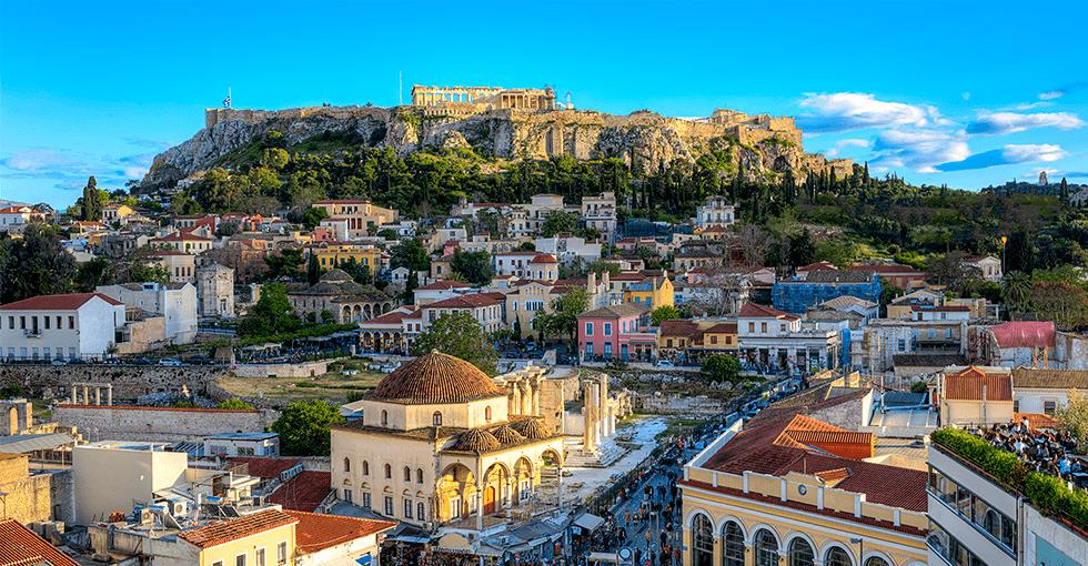 Utsikt over Akropolis